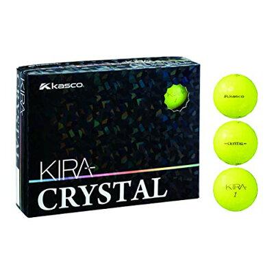 オウンネーム ゴルフボールキャスコ KIRA CRYSTAL キラ クリスタル カラーボール イエロー