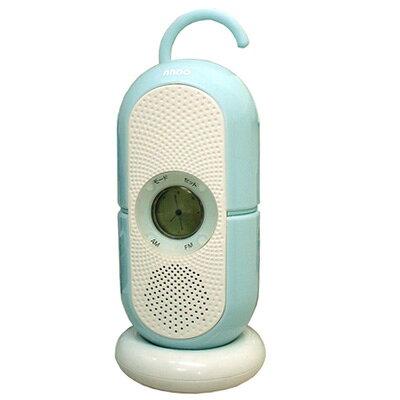 アンドーインターナショナル 防滴お風呂クロックラジオ R9-381W