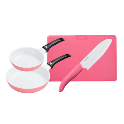 京セラ キッチンツール フライパン  まな板 セラミック包丁 cfdg-4a-pk ピンク