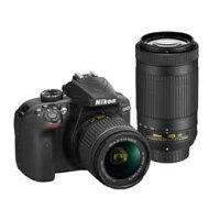 Nikon DXフォーマットデジタル一眼レフカメラ D3400 ダブルズームキット BLACK