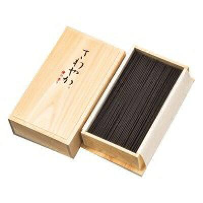梅栄堂のお香 さわやか檜の香り(煙控) 短寸バラ檜箱 ♯707