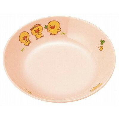 メラミン 子供食器 ひよこぐみ 深菜皿 ピンク D17HIP