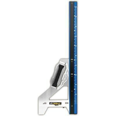 シンワ測定 丸ノコガイド定規 エルアングル Plus 1m 併用目盛 ブルー 73152