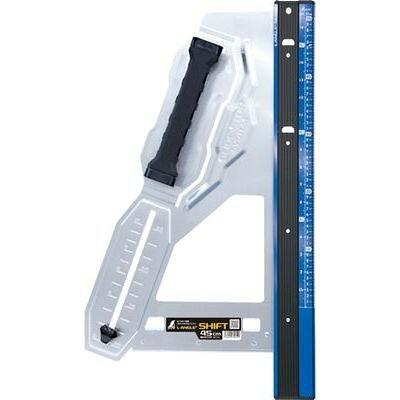 シンワ測定 丸ノコガイド定規 エルアングルPlusシフト 45cm 寸勾配切断機能付