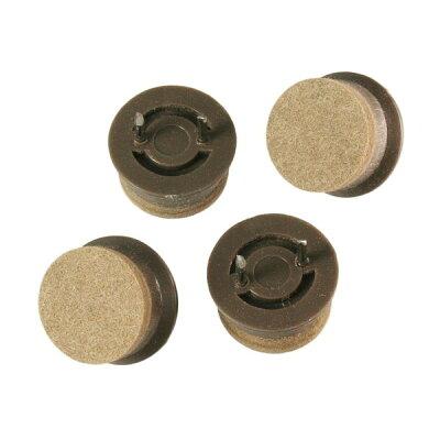 ハイロジック 打込フェルト 22mm丸 A-204 ブラウン Tools & Hardware 00057204-001