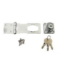 ハイロジック 鍵つき掛金錠 95ミリ 3本キー J-457 Tools & Hardware 00071457-001