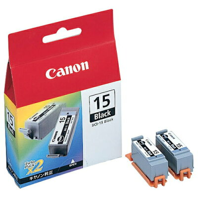 Canon インクカートリッジ インクカートリッジ BCI-15BK 1色