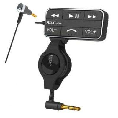 MIRAREED リモコン付AUX音楽コード&マイク(iPhone)BK GS-149 音楽 ヘッドホン トランスミッター