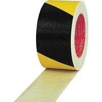 スリオン 危険表示用布粘着テープ120mm×25m イエロー ブラック