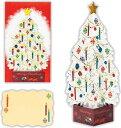 クリスマスカード 洋風 立体カード クリスタルホワイトツリー XAR-710-392 ホールマーク