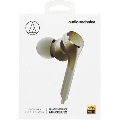 audio-technica ハイレゾ対応 有線 カナル型 イヤホン ATH-CKS770X CG