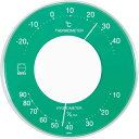 エンペックス セレナ・カラー 温湿度計 LV-4353 グリーン