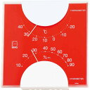 エンペックス エルム・カラー温湿度計 LV-4955 レッド