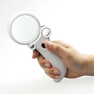 ケンコー・トキナー 130206 KTL-405 LED付き手持ち 拡大鏡 | 光学機器 ルーペ 拡大 虫眼鏡