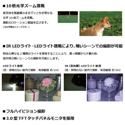 Kenko ビデオカメラ DVSA10FHDIR