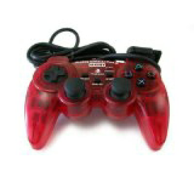 PS2用 プレイステーション2専用アナログ振動パッド クリアレッド PlayStation2