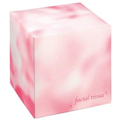 フェイシャルティッシュ サイコロBOX 80W ピンク