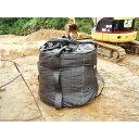萩原工業 萩原 耐候性大型土のうブラック 100KT J-100KT