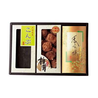 国内産椎茸・北海道産だし昆布・JA八女茶詰合せNo30 HKB-30