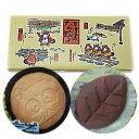 草津温泉 たぬきの葉っぱ たぬき型サブレ10枚/リーフ型チョコクッキー6枚