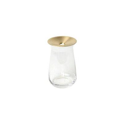 LUNA ベース 80x130mm ルナベース CL BR 一輪挿し 真鍮 多肉植物 水耕栽培 花器 フラワーベース ガラス 花瓶 z