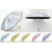 UV晴雨兼用ジャンプ傘(ひんやり傘) シルバー 60cm×8本骨
