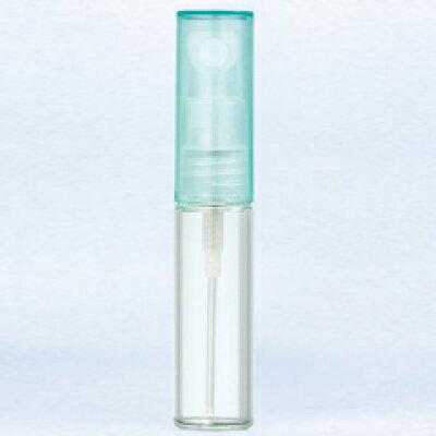 グラスアトマイザ― プラスチックポンプ 無地 4329 キャップ ミント 4ml