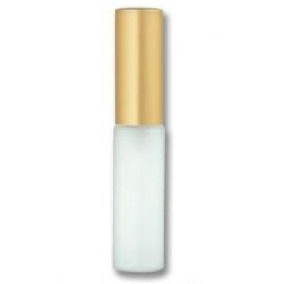 グラスアトマイザ― プラスチックポンプ 無地 6241 フロスト アルミキャップ ゴールドつや消し 4ml