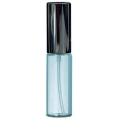 Yamada Atomizer ヤマダアトマイザー 香水 グラスアトマイザー プラスチックポンプ 無地 7207 クリアビン10cc アルミキャップ ブラック 10ml