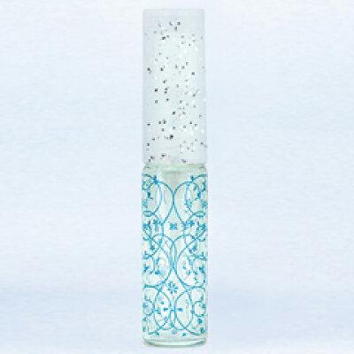 グラスアトマイザ― プラスチックポンプ 柄 50442 アラベスク ブル― 4ml