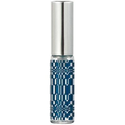 グラスアトマイザー プラスチックポンプ 柄 60450 ジオメトリー アルミキャップ シルバー 4ml
