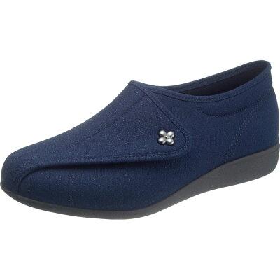 ASAHI アサヒシューズ 快歩主義 L011 ネイビーラメ リハビリシューズ 介護靴 L-011 レディース 女性用 KS20527