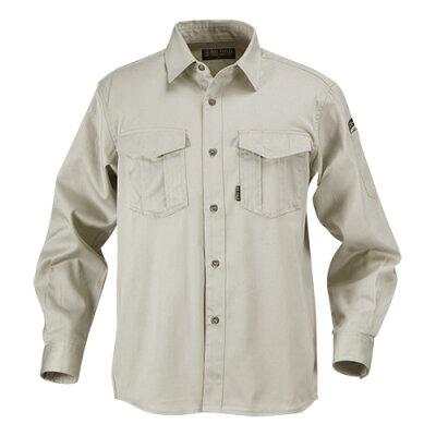 カジメイク T/C長袖シャツ アイスホワイト26802