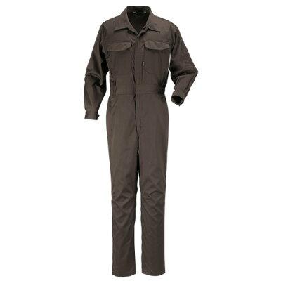 カジメイク TC長袖つなぎ服 ブラウン M 個数:1着入番:6709-17-M