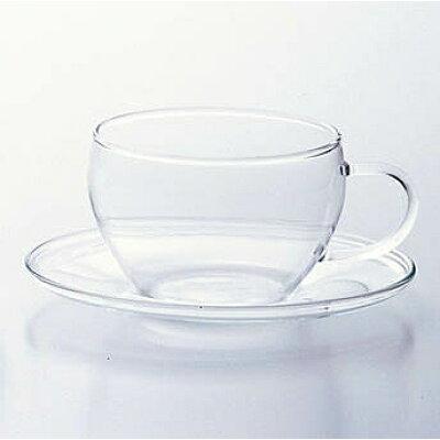 お茶くらぶ カップ&ソーサー ガラスカップ&ガラス皿/F-37442