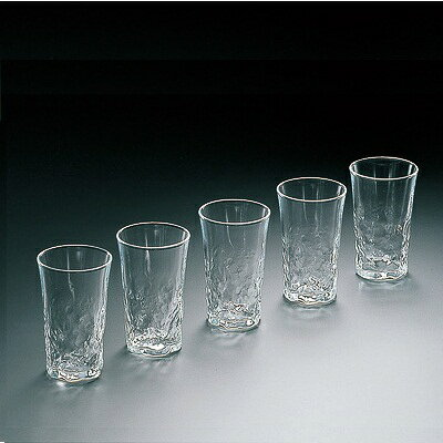 石塚 和の趣一口ビールグラス 5個