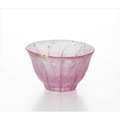 庄内craft 花つづり ぐい飲み ガラス 盃 梅 アデリア 70ml