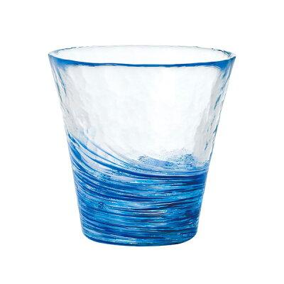 津軽びいどろガラスコップ 12色のグラス紺青