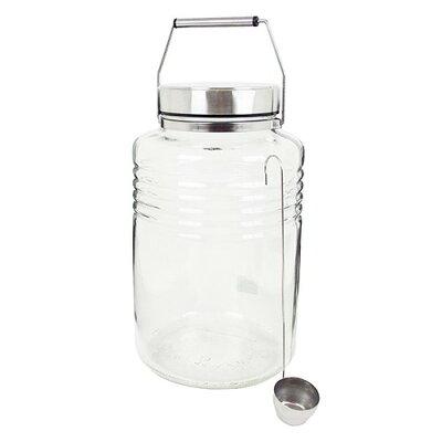 MCコンテナー ガラス保存瓶 レードル付き 817(1セット)