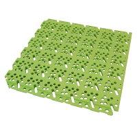 ミヅシマ工業 スーパーチェッカー ライトグリーン 300mm×300mm×13mm 423-0020