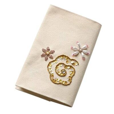 刺繍 刺しゅうキット トーホー ビーズ・デコ刺しゅうキット 花柄のブックカバー