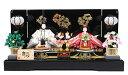 フジキ工芸産業 親王飾り雛人形黒塗屏風親王飾り 3201-28