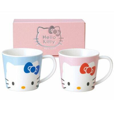 KANESHO/金正陶器 ハローキティ フェイス ペアマグ 506750