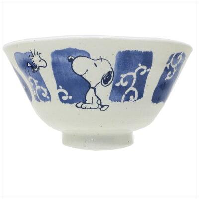 スヌーピー ライスボウル 磁器製お茶碗 筆唐草 ピーナッツ 金正陶器