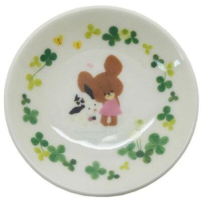 くまのがっこう 小皿 ミニプレート ハピネス クローバー 金正陶器 食器