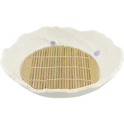 萬古焼 麺の器 8号麺鉢 スノコ付 ておこし 金魚 15417