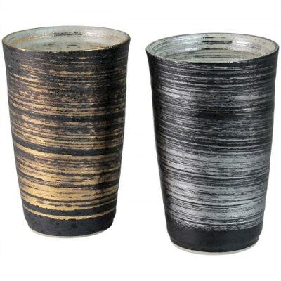 有田焼 金銀刷毛 ペア陶酒杯 4965217660903