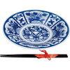 西日本陶器 芙蓉手 のし箸付軽々8寸皿 GS04-07