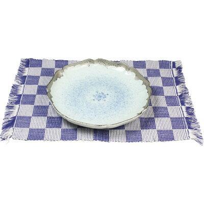 西日本陶器 プラチナ小花 ランチョンマット付百合渕8寸皿 GS04-21