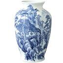 有田焼 山水 肩丸花瓶30cm